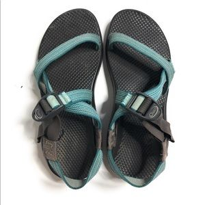 Chaco women's sport sandals teal 9